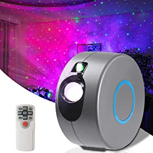 Galaxy Projector Star Projector Nebula Starry Night Light Show Led Sky Light Projector for Bedroom Adults Room Home Party Decoration (Grey)