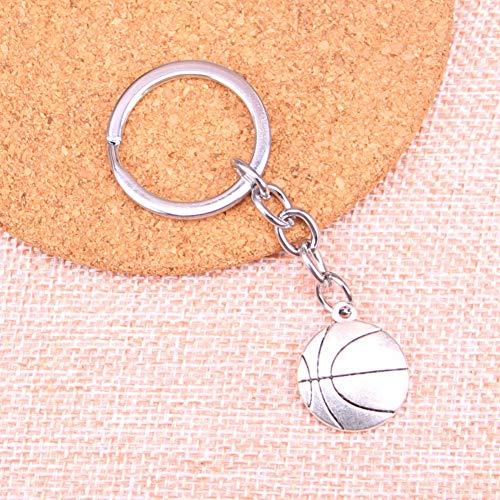 N/ A Doppelseitiger Basketball-Anhänger Anhänger Schlüsselbund Schlüsselring Kette Zubehör Schmuckfür Geschenke