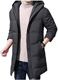 Howely Men's Hooded Winter Coat Parka Puffer Coat Thermal Quilted Jacket