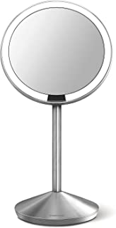 simplehuman sensor mirror, 12cm round,  10x magnification, with travel case