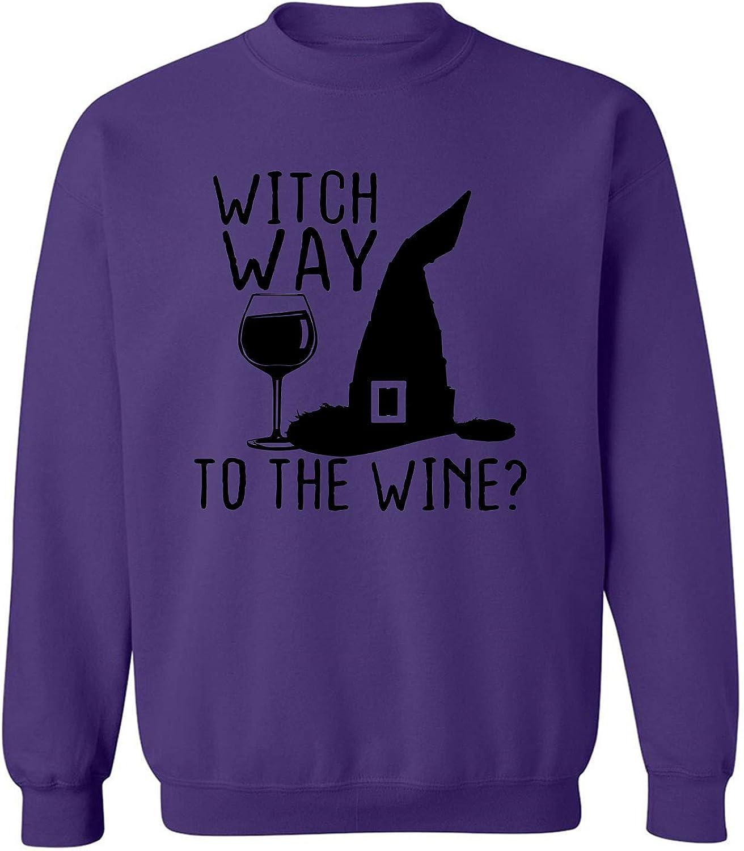 Witch Way To The Wine? Crewneck Sweatshirt