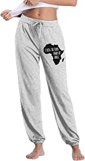 Women's Comfortable I Bless The Rains Down in Africa Sweatpant, 100% Cotton Sports Pants for Women