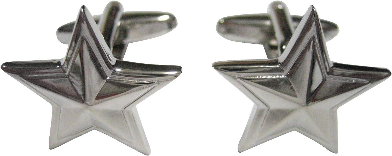 Kiola Designs Silver OFFicial Star Toned Cufflinks Rapid rise