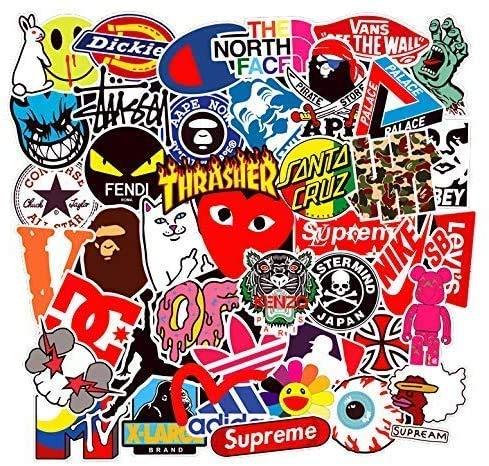 100 pegatinas de vinilo diseño tipo graffiti Mejor vinilo de las etiquetas engomadas Pack Todos los estilos diferentes para Coche Macbook Laptop Tabla Snowboard iPhone Maleta de la bici pegatina