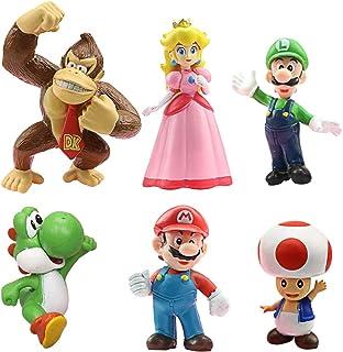 WENTS Super Mario Figures 6pcs / Set Super Mario Toys Figuras de Mario y Luigi Figuras de acción de Yoshi y Mario Bros Fig...