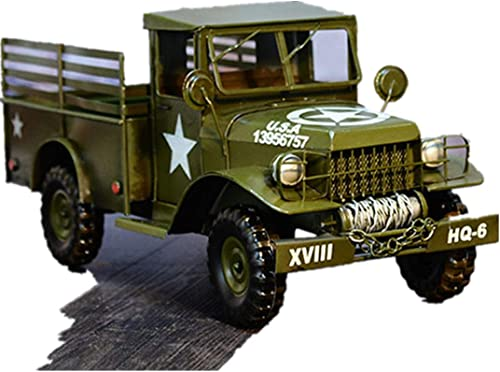 autorización VJUKUBWINE VJUKUBWINE VJUKUBWINE Retro Modelo De Camión Militar De Hierro Arte Hogar Decoración del Coche Arreglo Decoración Accesorios De Fotografía 45  18  20 CM  calidad fantástica