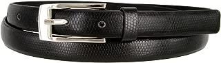 7045 Women's Skinny Lizard Embossed Leather Casual Dress Belt 3/4