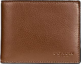 e5e09930c58e Coach Compact ID Wallet in Sport Calf Leather (Dark Saddle) - F74991 CWH