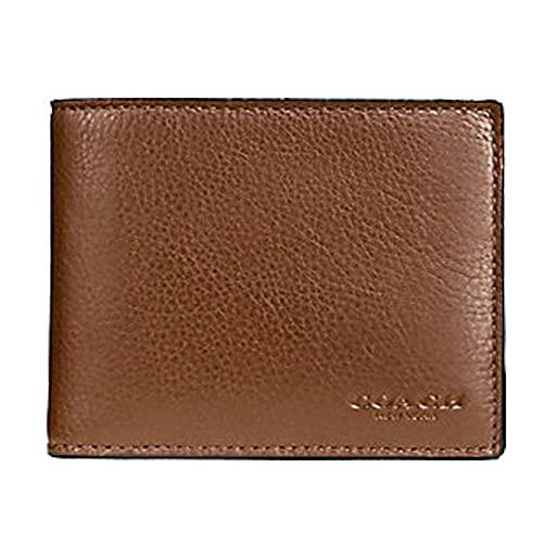 4b8e9d608c216 Coach Compact ID Wallet in Sport Calf Leather (Dark Saddle) - F74991 CWH