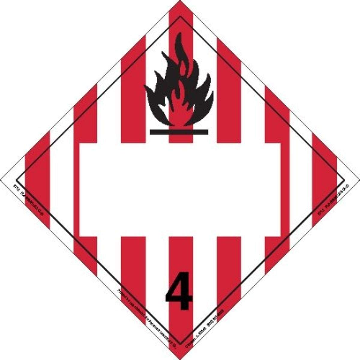 Labelmaster ZT13 Flammable Solid Placard Tagboard OFFer Blank Hazmat Industry No. 1