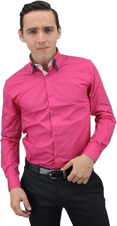 Meadrine - Camisa para hombre, color fucsia rosa fucsia XL ...