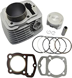 AHL Cylinder Head and Piston Kit and Gasket Set for Honda CRF230 2003-2014 / FTR223 FTR230 2003-2005