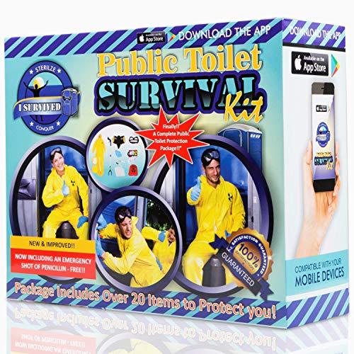 Prank Gift Boxes, Inc. Public Toilet Survival Kit! Prank Box for Adult or Kids! Prank Gift Box/ Gag...