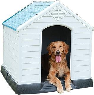 Pet Plastic Dog Kennel/Outdoor Plastic Dog House/Weatherproof Tough Large Plastic Dog Kennel / 3 Size (Color : Blue, Size : S70x66x74cm)