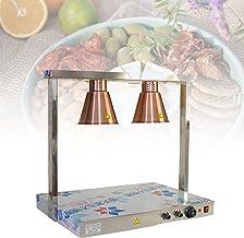 BIWAHumor Lampe Chauffante pour Barbecue à Isolation Alimentaire à 4 Têtes,Lampe Chauffante Réglable pour Les Buffets De F...