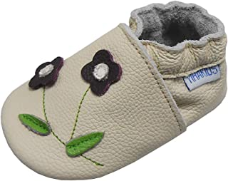 YIHAKIDS Soft Sole Leather Baby Shoes Toddler Moccasins Prewalker Baby Slippers