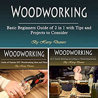 Woodworking: Basic Beginners Guide of 2 in 1 with Tips and Projects to Consider audiobook cover art