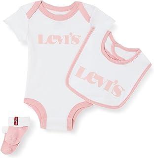 Levi's Kids Baby and Toddler Layette Set Bébé fille New Logo Infant Hat, Bodysuit, Bootie Set 3Pc 0253