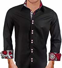 product image for Black with Red and White Dress Shirt - Made in USA