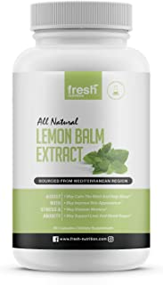 Lemon Balm Extract Capsules - Strongest DNA Verified - Calms, Improves Skin, Sleep, Memory, Alertness, Anxiety, Stress, Ap...