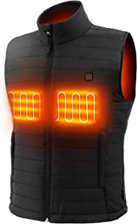 Sunbond Heated Vest 5V Rechargeable Battery Electric Heated Vests Heated Jackets Washable Temperature Adjustable for Fishing Hunting ski Hiking Camping