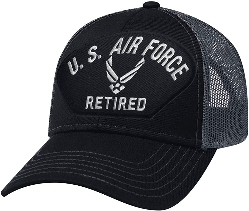 Military Productions US Air Force Retired New Logo Mesh Back Cap Black