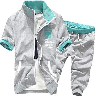 Men's 2 Pieces Activewear Tracksuit Athletic Sports Casual Full Zip Sweatsuit