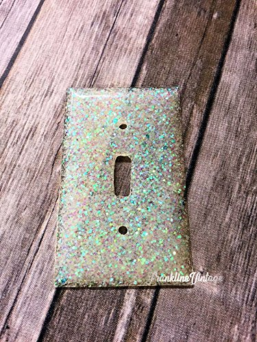 Opal White Glitter Light Switch Cover