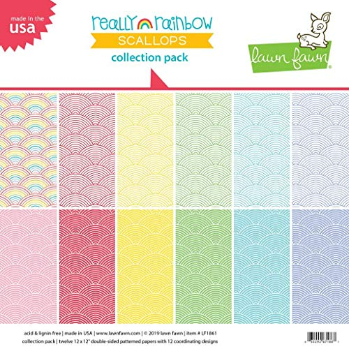 Lawn Fawn LF1861 Really Rainbow Scallops Collection Pack Collection Pack