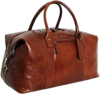 Ashwood Leather Mens Chelsea Veg Tan Lewis Extra Large Travel Holdall - Chestnut
