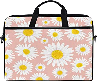 HAIIO Laptop Bag Case Flower Daisy Floral Pattern Print Computer Protector Bag 14-14.5 inch Travel Briefcase with Shoulder...