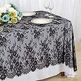 Lace Tablecloth Black 60x120 Inch Vintage...