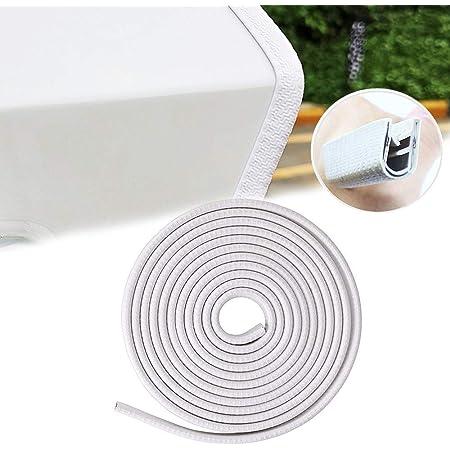 8 Piezas Universal Auto Door Edge Bumper Guard Protector Cover Molding Trim Strip Tira De Protecci/ón