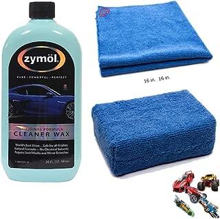 Zymol Z503A Cleaner Wax 20 oz Bundle with Microfiber applicator Sponge and edgeless Detailing Towel