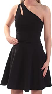 Women's One Shoulder Fit & Flare Cocktail Dress