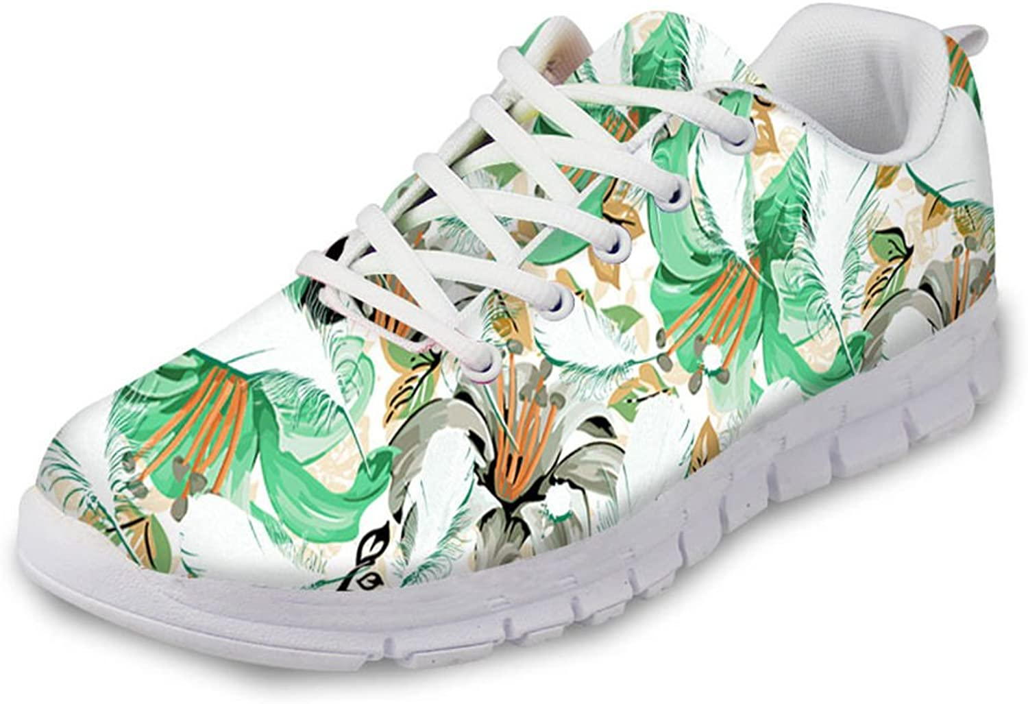 Advocator 3D Flowers Printed Cute Girly Running shoes Travel Athletic Mesh Walking Sneakers for Women