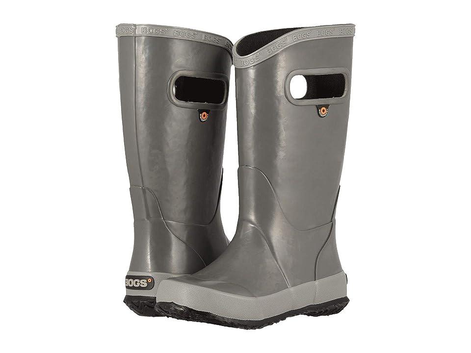 Bogs Kids Rainboot Solid (Toddler/Little Kid/Big Kid) (Gray) Kids Shoes
