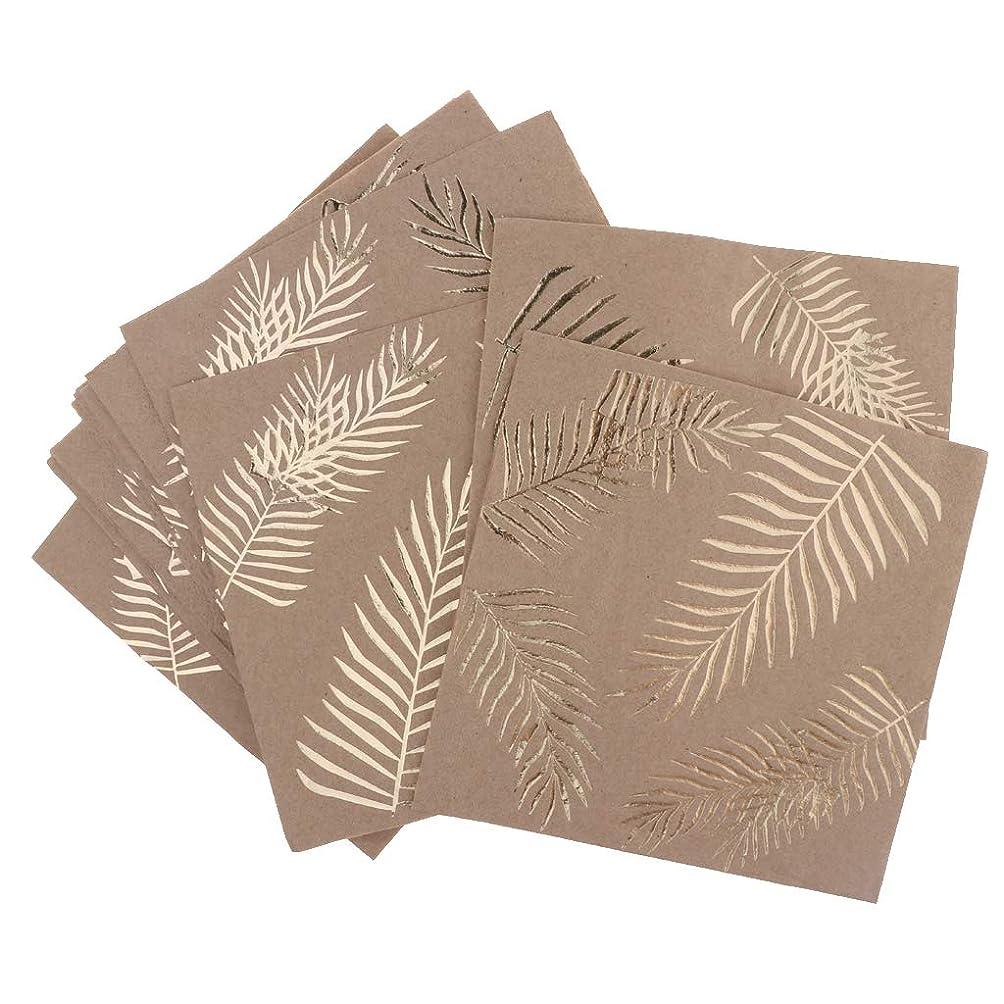 納屋盲目平和D DOLITY 16枚 使い捨て 紙ナプキン 約33×33cm パーティー装飾 葉
