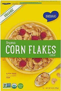 Barbara's Organic Corn Flakes Cereal, Gluten Free, Vegan, 9 Oz Box (Pack of 10)