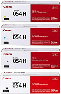 Canon CRG 054 High Yield Toner Cartridge for LBP622 & MF644, Bundle With Black 3100 Pages Yield / Cyan 2300 Pages Yiel...