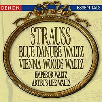 Strauss: Blue Danube Waltz - Vienna Woods Waltz - Emperor Waltz - Artist's Life Waltz