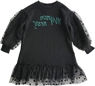 Newborn Girls Spring&Autumn Dress Solid Color Mesh Dot Design Girls A-line Dress