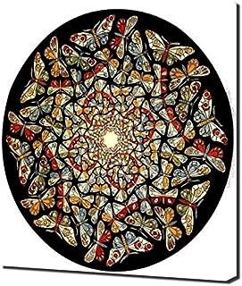 Lilarama M.C. Escher - Circle-Limit-with-Butterflies Framed Canvas Art Print Reproduction