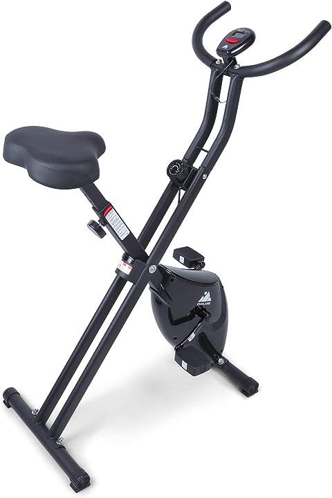 Cyclette da allenamento evoland cyclette con 8 livelli di resistenza sedile regolabile display lcd B08LPDK57V