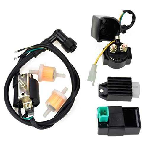 hiaors ignition coil 5 pin cdi regulator rectifier relay fuel filter for  kazuma meerkat 50cc falcon