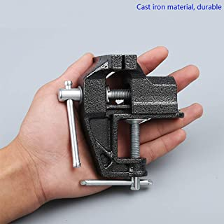 HENGDA Mini Table Clamp Small Bench Vice New upgraded cast iron manufacturing Jewelers Hobby Clamps Craft Repair Tool Portable Work Bench Vise (mini)
