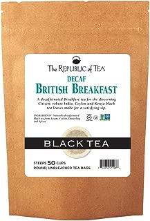 The Republic of Tea Decaf British Breakfast Black Tea, 50 Tea Bags, Perfect Cuppa Morning Blend