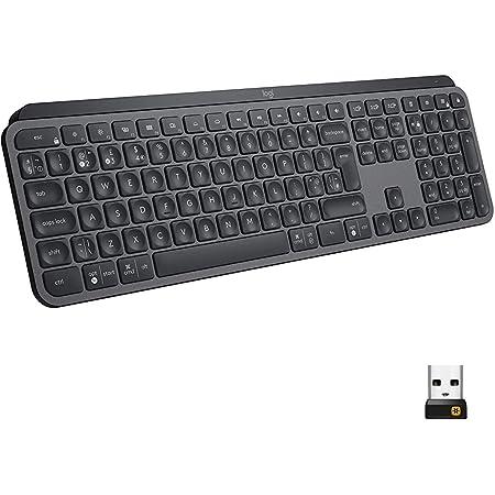 Logitech MX Keys Advanced Teclado Inalámbrico, Disposición QWERTY Italiano, Negro