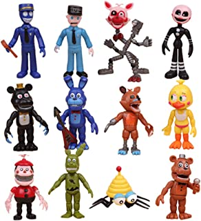 12 pcs Five Nights at Freddy's Toy Set Action Figures Gifts Cake Toppers