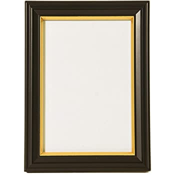 FUJICOLOR 額縁 肖像額 L ブラック 木製 無反射ガラス 404986